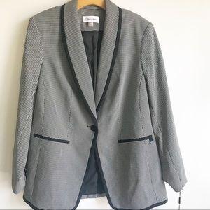 Calvin Klein Novelty One Button Blazer Jacket